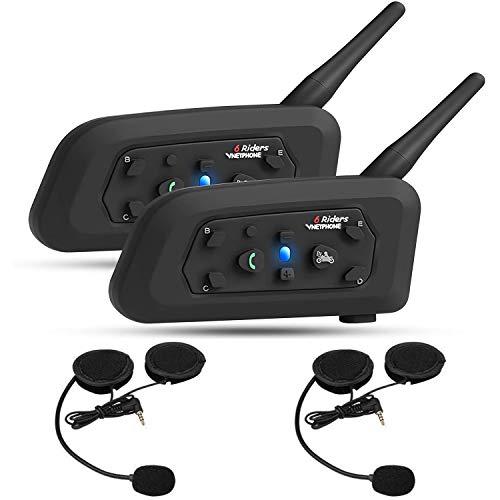 OKEU V6 Intercom 1200 Meters Full Duplex Wireless Bluetooth intercom Motorcycle Helmet Bluetooth...