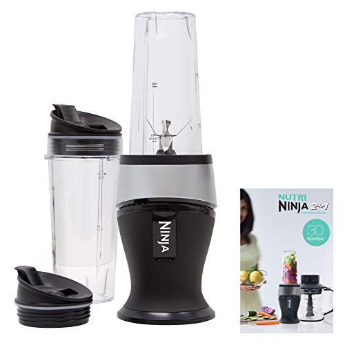 Ninja Personal Blender for Shakes, Smoothies, Food Prep, and Frozen Blending with 700-Watt Base and (2) 16-Ounce Cups with Spout Lids (QB3001SS) New York