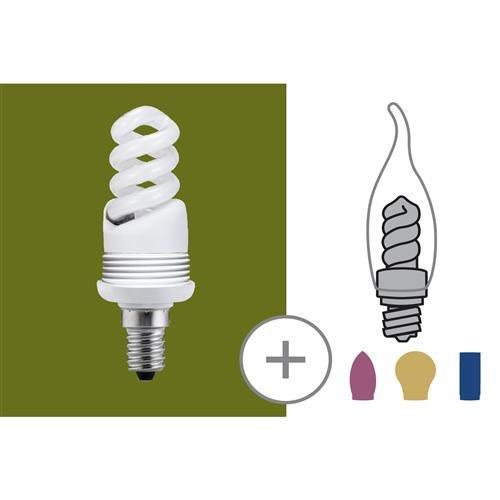 Base ampoule fluocompacte 9W E14 blanc chaud Paulmann