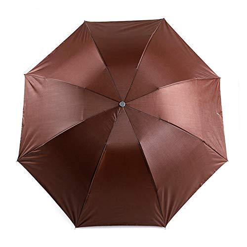 XIXV Werbe-Regenschirm-Premium-Square-Griff Recollive Pole UV-Regenschirm Mini-Regenschirm (Color : Coffee)