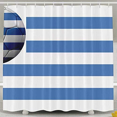 N/A - Cortina de Ducha Impermeable con diseño de Bandera de Uruguay