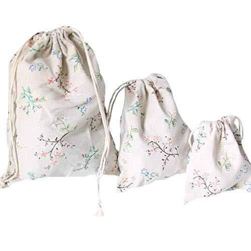 NA UMTGE sieradenzakje witte stip effen kleur favoriete tassen voor geschenk, bruiloft, snoep, kerst chocolade pakket, Moederdag, doek, 3 stuks