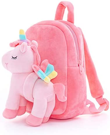 Lazada Unicorn Toddler backpack for Girls Plush Bag with toy Pink 11 Inches Age 3 product image