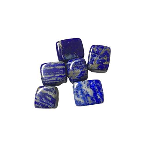 SUPVOX Chips de Lapislázuli Natural Pulido Piedra de Cristal Adorno de Escritorio Irregular Decoración de Maceta Interior para El Hogar (1.5-2.5Cm 100G)