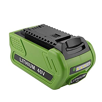 Powilling 40V 5.0Ah Replacement Lithium Battery for GreenWorks 29472 29462 Battery GreenWorks 40V G-MAX Power Tools 29252 20202 22262 25312 25322 20642 22272 27062 21242 (Not for Gen 1)
