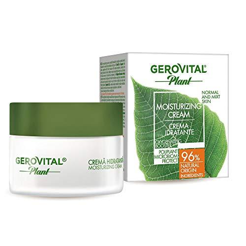 Gerovital Plant, Crema Hidratante Protectora de Microbioma, Tipo de Piel: Combinación Normal, 50 ml