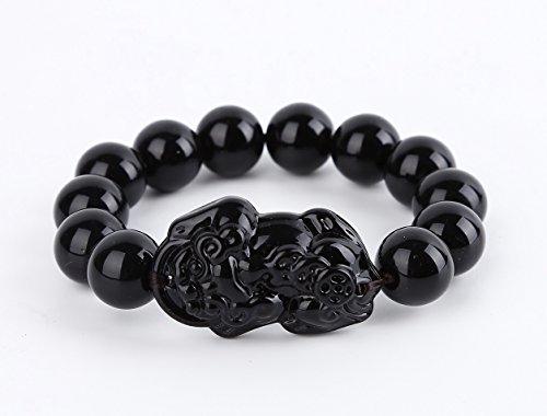 BOYULL Obsidian Feng Shui Wealth Porsperity Bracelet...