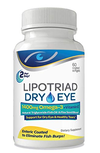 Lipotriad Dry Eye Omega 3 Supplement - Soon to be renamed Nutri Tear (September 2021) - 60 count