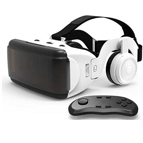 VR Headset, Virtual Reality Glasses, 3D VR Panoramic with Adjustable Lens And Comfortable Strap, 90-Degree Movie And Games for 4.7-6.0 Inches Smartphones,B