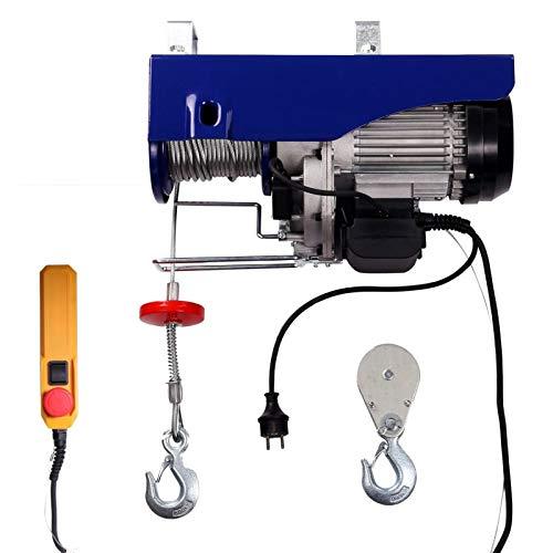 Elektrische Seilwinde Seilzug Seilhebezug 400 kg/800 kg 12 m/6 m mit Kabelfernbedienung Motorwinde | 1,6m Kabellänge| 1350 W