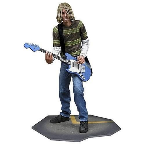 NECA Kurt Cobain 7 Inch Action Figure with Skyblue Guitar by (Japan Import)