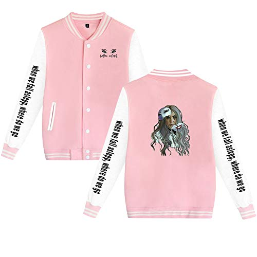 Landove Billie Eilish Baseball Jacket Unisex Bomberjack Sweatjas