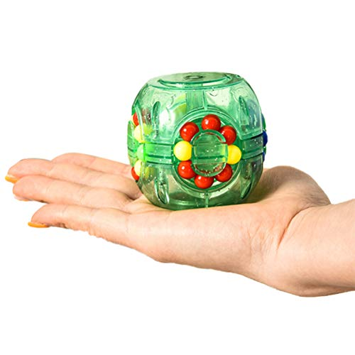 Gobbuy Rainbow Ball Magic Ball Rainbow Ball Cube Rompecabezas 3D para Regalo de Fiesta de cumpleaños para niños, también como Pelota antiestrés o Juego de Rompecabezas para Adultos