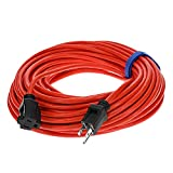 Clear Power 100 ft Outdoor Extension Cord 16/3 SJTW, 3-Prong Grounded Plug, Orange, Water & Weather Resistant, Flame Retardant, General Purpose Power Cord for Lawn & Garden, DCOC-0118-DC