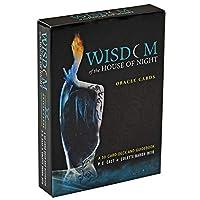 Wisdom of the House of Night Oracle EGuideブック付きの完全英語版のタロットデッキEinstructionカードゲーム占いゲームは運命予測カードゲームを設定します
