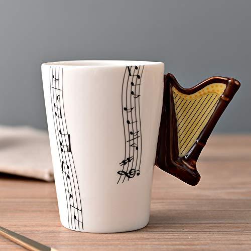 Keramik Musik Tasse Tasse E-Gitarre Musikinstrument Wasser Tasse Kreative Kaffeetasse Emaille Porzellan Tasse