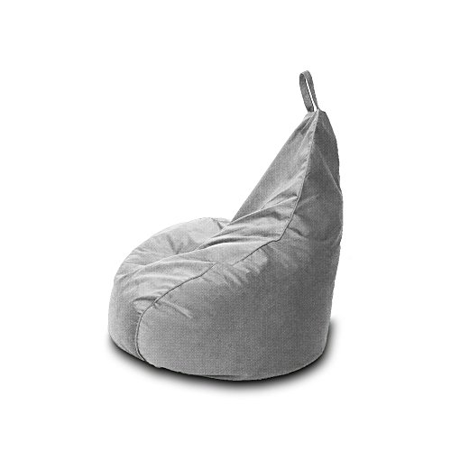 Pouf en polyester type Beanbag pour Gamer, imperméable pour l'extérieur, 90 x 90 cm gris pierre