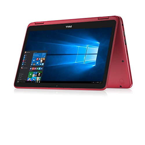 2019 Dell Inspiron 11.6' Touchscreen 2-in-1 Laptop Computer, AMD A6-9220e 1.6 GHz Up to 2.4GHz, 4GB DDR4 SDRAM, 64GB eMMC SSD, WiFi, Bluetooth, USB 3.1, HDMI, Red, Windows 10 S