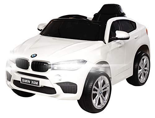 Actionbikes Motors Kinder Elektroauto BMW X6M F16 - Lizenziert - 90 Watt Motor - Eva Vollgummi Reifen - 2,4 Ghz Fernbedienung (Weiß)