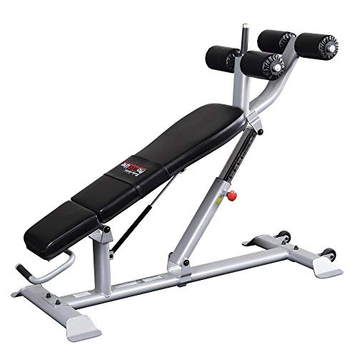 Body-Solid SAB500 Pro Clubline Ab/Hyper Bench for Abdominal Workout, Home and Commercial Gym