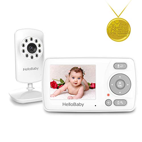 Video Baby Monitor with Camera and Audio & Night Vision, 1000ft Range, VOX Mode and Long Battery Life, 2-Way Talk, Tilt and Zoom, HelloBaby Video Camera Portable