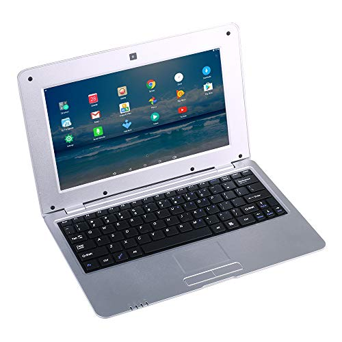 BIGMAC Laptop 10 Zoll Android 6.0 Quad Core Laptop Mini Netbook 8GB WIFI Webcam Netflix YouTube Google Flash Ultra Slim (Silber)
