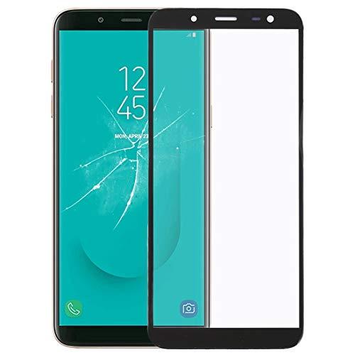 Lin-L Frontscheibe Äußere Glasobjektiv for Galaxy J6, J600F / DS, J600G / DS (schwarz) Touchscreen Display Glas Scheibe (Color : Black)