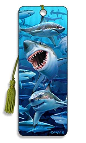 3D-Lesezeichen Haifische
