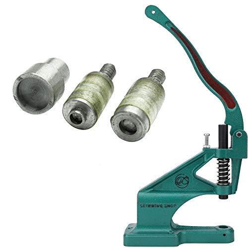 Trimming Shop Universal Grün Hand Nietpresse Maschine & Stanzen Set für Kam Snaps in T3 und T5 Größen - grün, Machine and T3 - Die Set (Size 16)