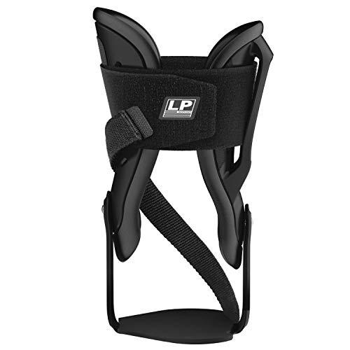 LP SUPPORT 586 V-Guard Sprunggelenk Sport-Bandage, Knöchelbandage, Größe:M, Farbe:1 x schwarz