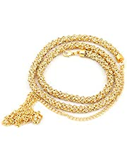 Project Luxe Beautiful Gold Plated Kamarband for Women and Girls - Waist Hip Chain Studded with Crystals & Stones