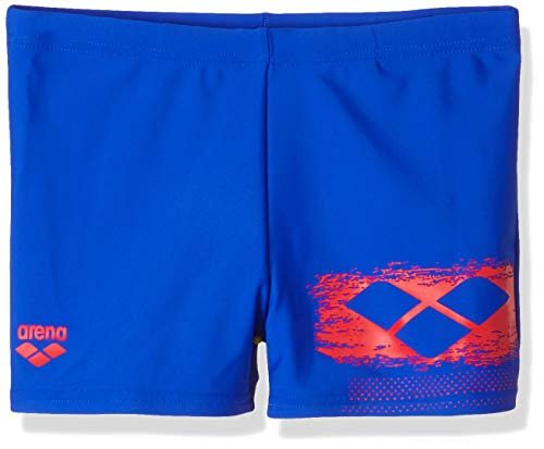 ARENA Jungen Badeshorts Scratchy Badehose, neon Blue-Red, 152
