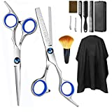 11PCS Stainless Steel Hair Cutting Scissors Kit Professional Tools,Yehior Hairdressing Shears Family Set