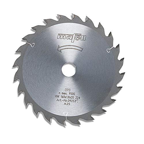 Mafell HM-Sägeblatt 16O x 1,8 x 2O mm 24 Zähne passend zu KSP 55