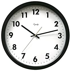 Equity 25509 Commercial Wall Clock, Black, 14-in. - Quantity 4