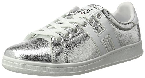 H.I.S Damen 16MCB002 Sneakers, Silber (Silver/White), 38 EU