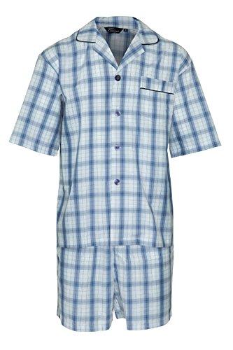 Champion Herren Sommer Baumwolle Kurzer Schlafanzug Nachtanzug Hausanzug3156(Himmel) 4XL