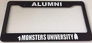 Alumni Monsters University - Very Cute - Black Automotive License Plate Frame - Funny