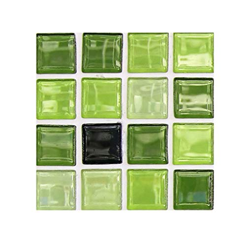 Serria Fliesenaufkleber Bad - PVC Fliesen zum Aufkleben DIY 3D Mosaikfliesen Fliesensticker Vinyl Wandfliese Aufkleber für Fliesen | 10 stück...