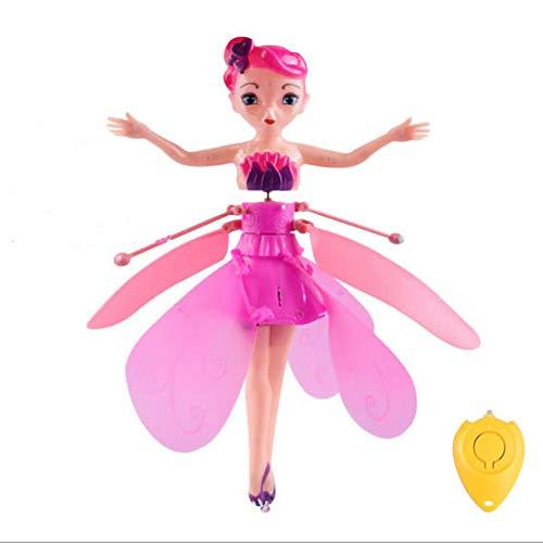 Gewafu Magic Flying Fairy Princess Doll Infrared Kids Toys Flying Fairy Doll-Rc Toy Toy for 6 Year Old Girl Kids Toy Birthday Present (Pink)