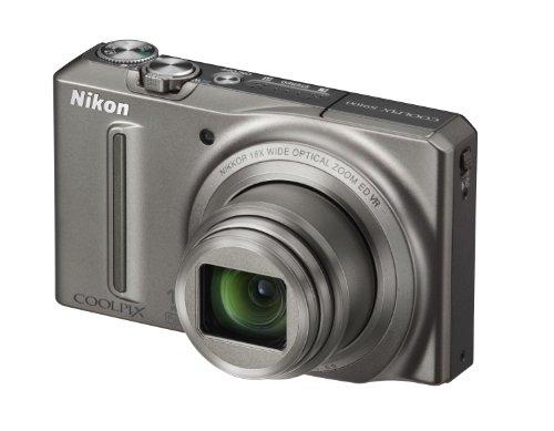 Nikon Coolpix S9100 Digitalkamera (12 Megapixel, 18-fach opt. Zoom, 7,5 cm (3 Zoll) Display, Full-HD Video, bildstabilisiert) graphitsilber
