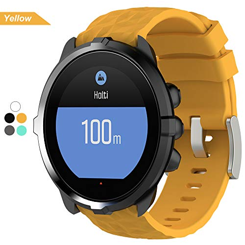 Bemodst® Armband Für Suunto Spartan Sport Wrist HR Baro, Silikon Uhrenarmband Ersatz Handgelenk Band Zubehör Uhr Strap Für Suunto Spartan Sport Wrist HR Baro Watch (Gelb)
