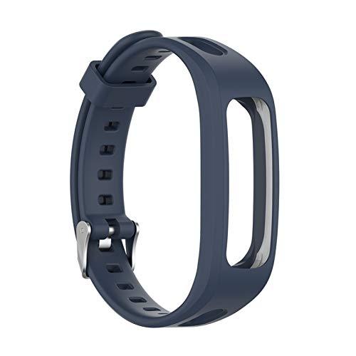 GZMYDF 1 UNID Ajustable Sports Silicone Silicone Strap Soft Reemplazo Reloj Banda Correa de Pulsera para Huawei Band 4e 3e para Honor Band 4 Correr (Band Color : Blue)