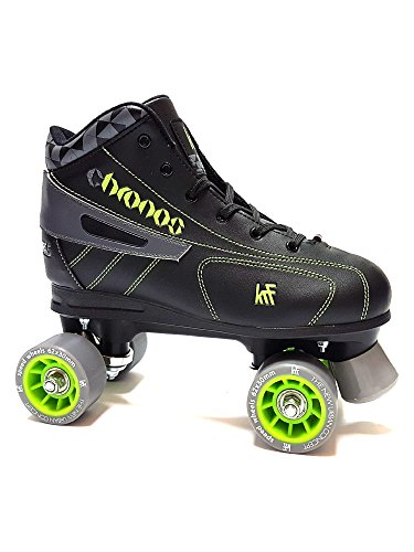 KRF Kinder Eishockey Chronos Rollschuhe, Roller Figure Quad, Black, 41