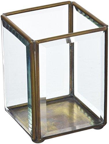 Moycor Vase Bougeoir biseau, Verre, Or, 0,4 kg