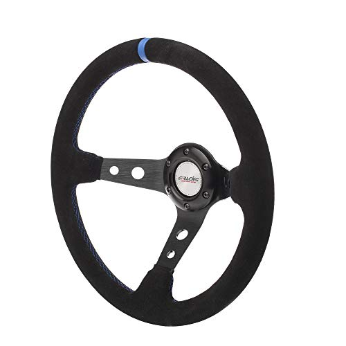 Simoni Racing SKDOWN Sport Steering Wheel Shakedown, Schwarz, Light Blau Seams