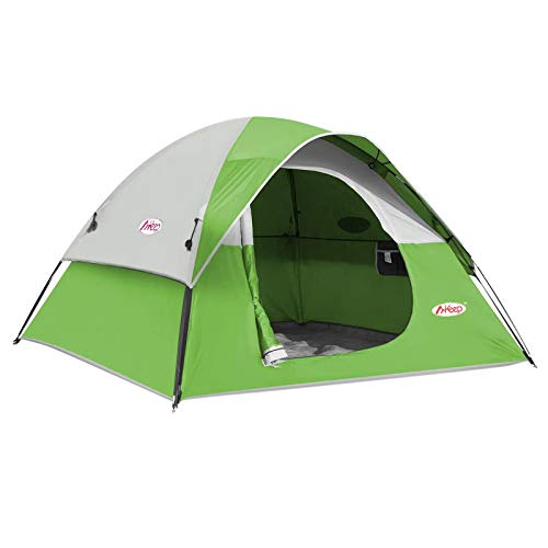 CAMPROS 3-4 Person Tent - Dome Tents for Camping, Waterproof Windproof Backpacking Tent, Easy Set up Small Lightweight Tents, for All Seasons Hiking Beach Outdoor with 3 Mesh Windows