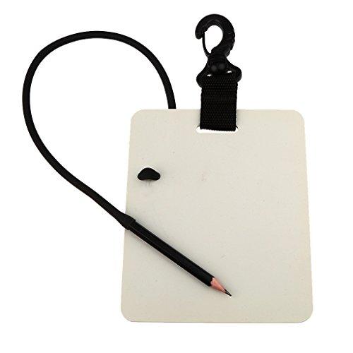 MagiDeal Unterwasser Schreiben Tauchen Schreibtafel mit Bleistift (Swivel Karabiner)