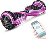 Bluewheel Skateboard Elettrico Elettrico HX310s, Scooter Elettrico a Due Ruote 6.5', Smart Self Balance Board Elettrico con Bluetooth Speaker, Funzione App e Fari a LED Induttivi (Rosa Cromato)