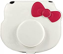 CAIUL Compatible Instant Film Camera Case Bag with Soft PU Leather Material for Fujifilm Instax Hello Kitty [Ever Ready Design] (White)